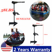 58lbs Electric Outboard Marine Engine Trolling Motor For Fishing Boat F5-r2 Usa