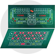 Waliken Tabletop Professional Casino Felt For 2-sided 36x72 Roulette And Craps