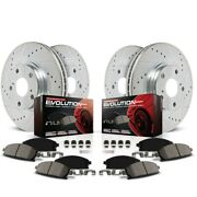 K4063 Powerstop 4-wheel Set Brake Disc And Pad Kits Front And Rear New For Nissan