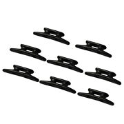 8x Yacht Boat Dock Cleats Nylon Cleat Closed Base Mooring Accessories Black