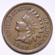 1888 Indian Head Cent Penny Rev Die Crack Choice Unc Free Shipping E524 Kc