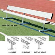 Bsn Sports Anodized Aluminum Surface-mount Players Benches With Back 21and039
