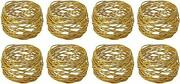 En Round Mesh Napkin Rings- Set Of For Weddings Dinner Parties Or Every 8 Gold