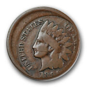 1890 1c Indian Head Cent Off Center 15 Very Good Vg R1148