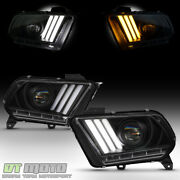 [hid/xenon] Blk 2010-2012 Ford Mustang Led Sequential Tube Projector Headlights