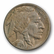 1919 S 5c Buffalo Nickel About Uncirculated Au Luster Remaining Tough R1595