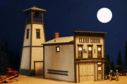 G Scale Train Firehouse Building For Use W Lgb Accucraft Mth Track And Locomotives