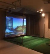New Optishot 2 Golf Simulator System With New Epson Projector Two Mats