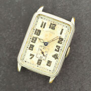 Antique Grade 207 Illinois 17j Wind Menand039s Watch 14k White Gold Filled Art Deco