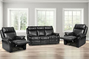 Recliner Sofa Set Sectional For Living Room Furniture Pu Leather Sofa