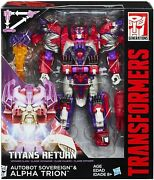 Transformers Titans Return Voyager Figurine Autobot Sovereign And Alpha Trion Rare