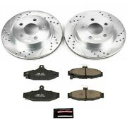 K1531 Powerstop 2-wheel Set Brake Disc And Pad Kits Rear New For Chevy Camaro