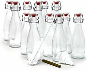 Set Of 12,glass Bottle Set With Airtight Swing Top Stoppers, Brewing Bottles