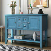 Entryway Wood Buffet Sideboard Console Table W/drawers Storage Cabinets Shelf