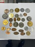 30 Various Misc. Tokens And Medals