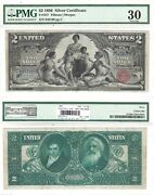 1896 2 Silver Certificate Educational Series Fr 247 Pmg Very Fine-30