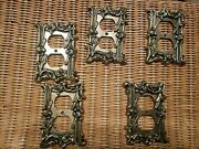 Vintage Metal Bronze Gold Toned Outlet Covers Baroque Old World Romantic