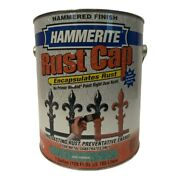 Hammerite Rust Cap Mid Green Hammered Finish Metal Paint And Primer 1 Gallon New