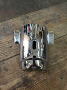 1955 1956 Chevy Lower Chrome Steering Column Cover Used Original Oem Free Ship