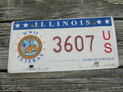 Illinois Ww2 Veteran License Plate Army Air Force Marines Navy Coast Guard Wwii