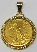 United States 1999 American Gold Eagle 1/4 Oz Gold 10 Dollar Coin Pendant