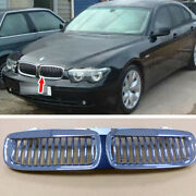 Chrome + Silver Fit For Bmw E65 E66 Pre-facelift 02-05 745i Front Grille Grill