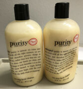 Philosophy Purity Made Simple One Step Facial Cleanser 32oz 16oz. X 2 Sealed