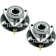 Set-tmha590206 Timken Set Of 2 Wheel Hubs Front Driver And Passenger Side New Pair