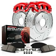 Kc2047 Powerstop Brake Disc And Caliper Kits 2-wheel Set Rear New For Chevy