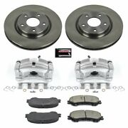 Kcoe7036a Powerstop Brake Disc And Caliper Kits 2-wheel Set Front New For Rogue