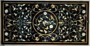 5and039x2.5and039 Marble Coffee Table Top Malachite Pietra Dura Inlay Antique Home Decor E