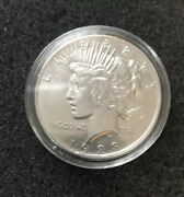 A7 - 1923 Peace Silver Dollar In Capsule Nice Condition