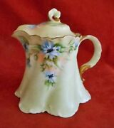 Rosenthal Antique Versailles Selb Bavaria Tall Creamer With Lid Blue Flowers