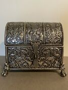 18th C South American Spanish Colonial Silver Casket Probably Peru
