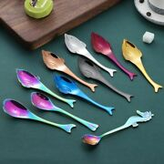 304 Stainless Steel Hippocampus Dolphin Whale Soup Spoons Chinese Dessert Us
