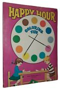 Happy Hour Coloring Fun Vintage Children's Coloring Book Western Publishing