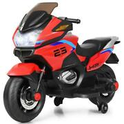 Electric Motor Bike 12.8 Inch 3 Plus Years Old Ride On Motorcycle Led Lights Red