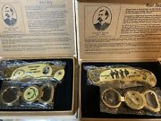 8 Wyatt Earp And Ok Corral Collectible Knife Key Ring Wild West Set Cowboy Boxed