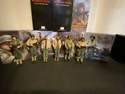 1/6 Did/ Redman Toys Lot 8 Wwii Action Figures Saving Private Ryan / Fury