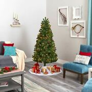 Multicolor Rocky Mountain Spruce Artificial Christmas Tree With Pinecones And 25