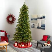 Multicolor 10and039 Belgium Fir Natural Look Artificial Christmas Tree With 1050 Cl