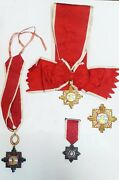 Argentine 4 Merit May Orders Set Badge Awards Medals Peron Justicialista Period
