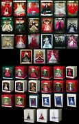 Happy Holidays Barbie Doll Collector And Hallmark Ornament 1988 -2008 Nice Lot 42