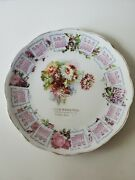 1910 Advertising Calendar Plate. Hazel Dell, Pa. Flowers. 8 Inches.