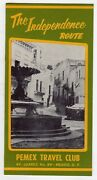 Pemex Travel Club Mexico Independence Route Vintage Graphic Advertising Brochure