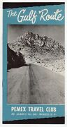 Mexico Pemex Oil Travel Club Gulf Route Vintage Graphic Advertising Brochure
