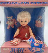 Vintage Jolly Toys Doll Judy In Box Dress Up Toy 1960s Moveable Arms Legs Eyes