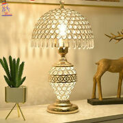 New European Luxury Home Decor Table Lamp Light Remote Control Dimmer Bedside Ac