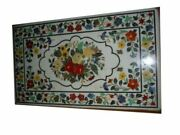 5and039x3and039 Black Marble Dining Coffee Table Top Pietra Dura Inlay Home Decor Hi