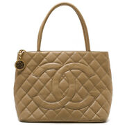 Auth 1804 1804 Medallion Tote A01804 Caviar Skin Women's Leather H 444583